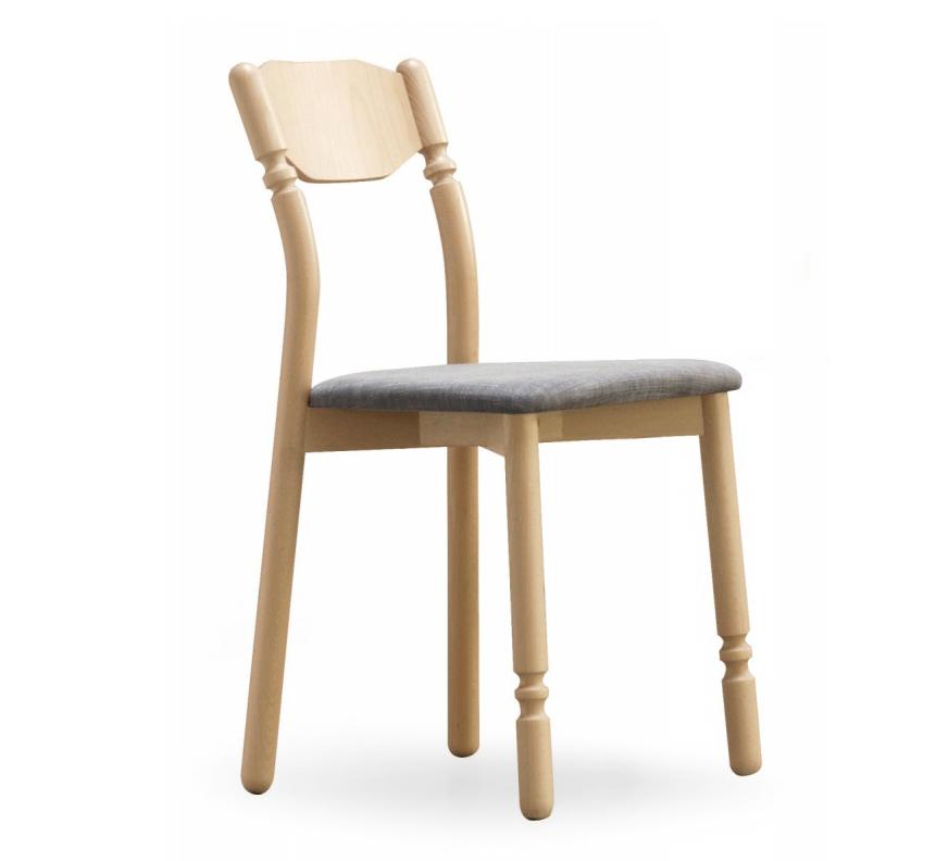Sedia guiccia in legno di faggio massello con il sedile for Sedia e maschile o femminile