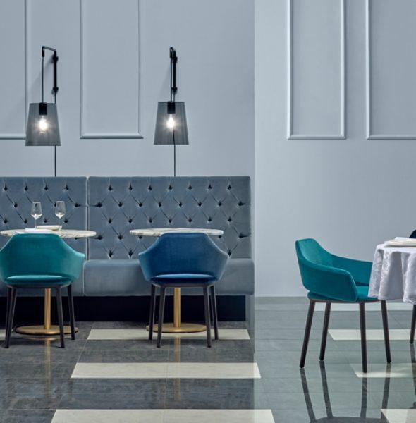 Panca modus mdl per tavoli da ristorante modulare con for Panche imbottite
