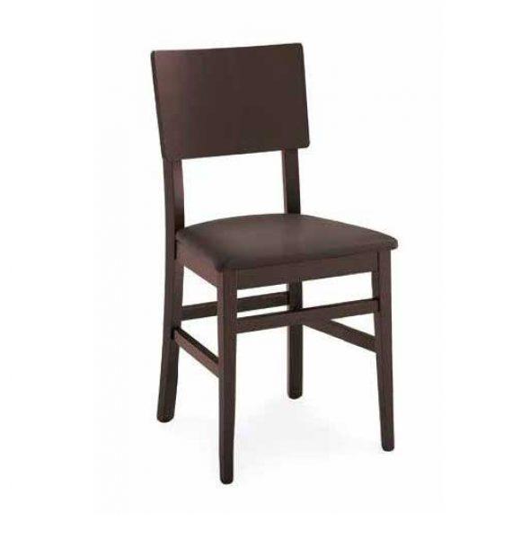 Sedia Espresso Calligaris in legno massello con sedile imbottito.