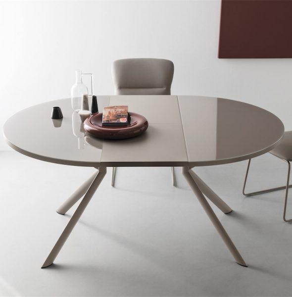 Tavolo giove tondo allungabile ad ovale disponibile in - Tavolo tondo allungabile calligaris ...