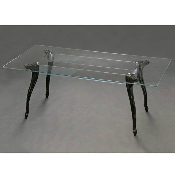 Tavolo bella con piano in vetro trasparente e gambe in - Tavolo policarbonato ...