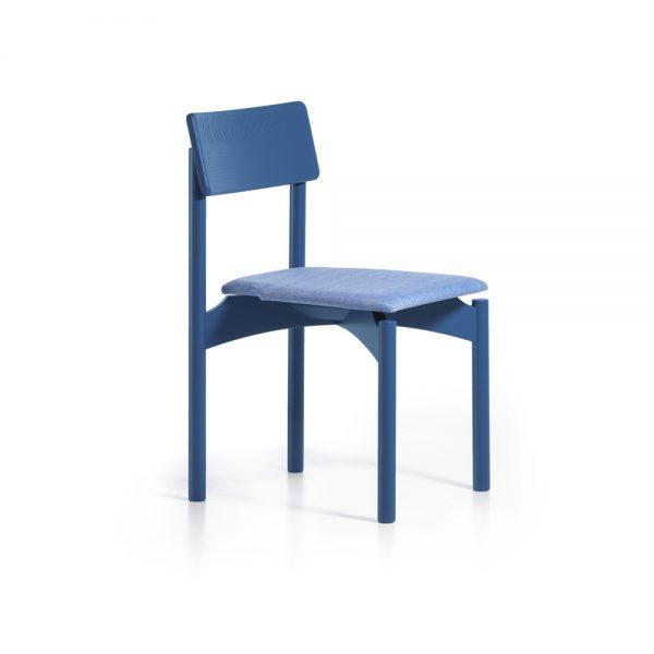 Sedia Pam Soft in legno colorato con sedile imbottito