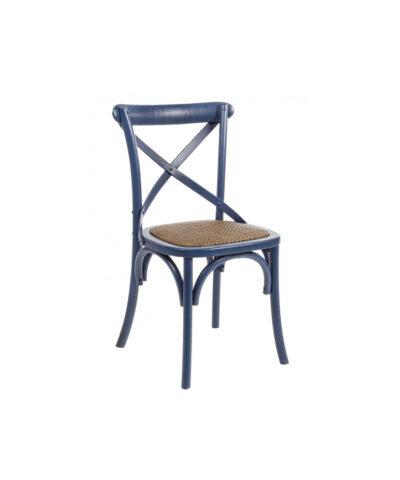 sedia legno blu pantone