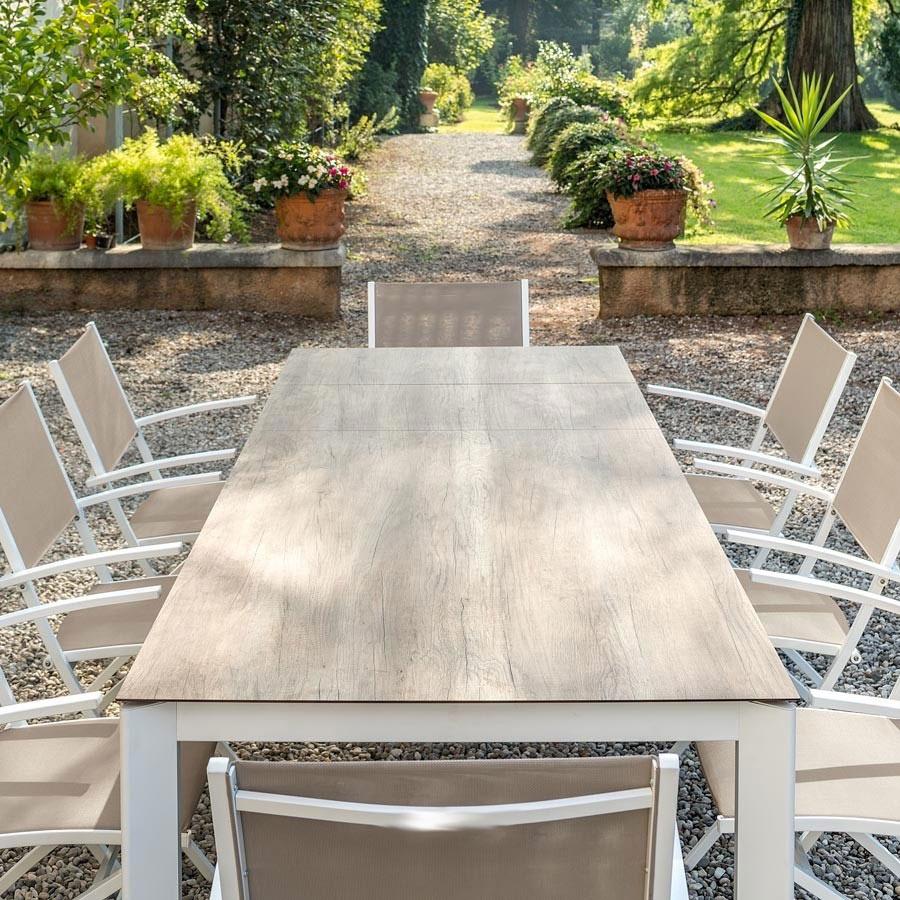 Tavoli Da Giardino In Legno Usati.Tavolo Allungabile Alfa Da Giardino Con Struttura In Alluminio E