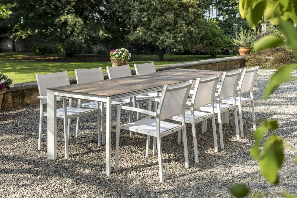Tavoli Da Cucina Allungabili Firenze.Tavolo Allungabile Alfa Da Giardino Con Struttura In Alluminio E