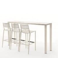 Tavoli Alti Per Esterno.Tavolo Easy Alto Da Giardino In Alluminio Vari Colori E Dimensioni