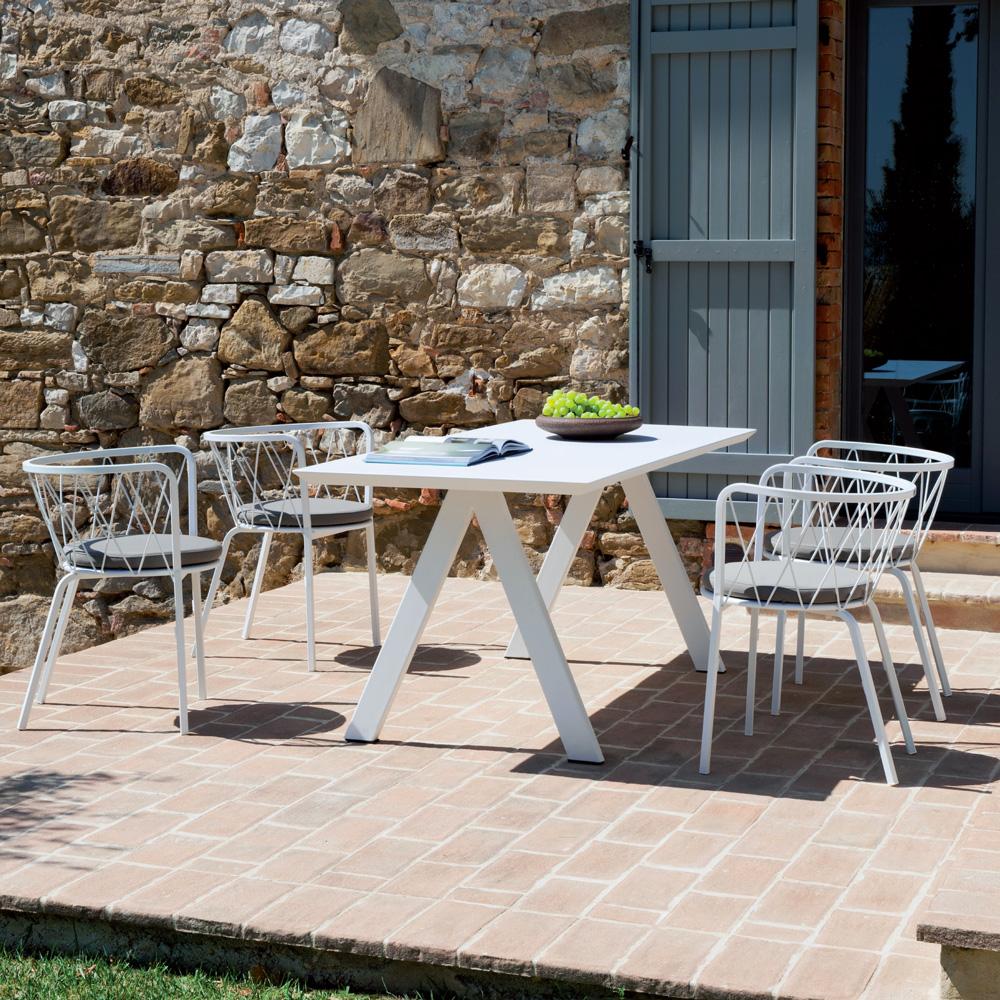 Tavolo Desiree 185x80 cm rettangolare per il giardino con ...