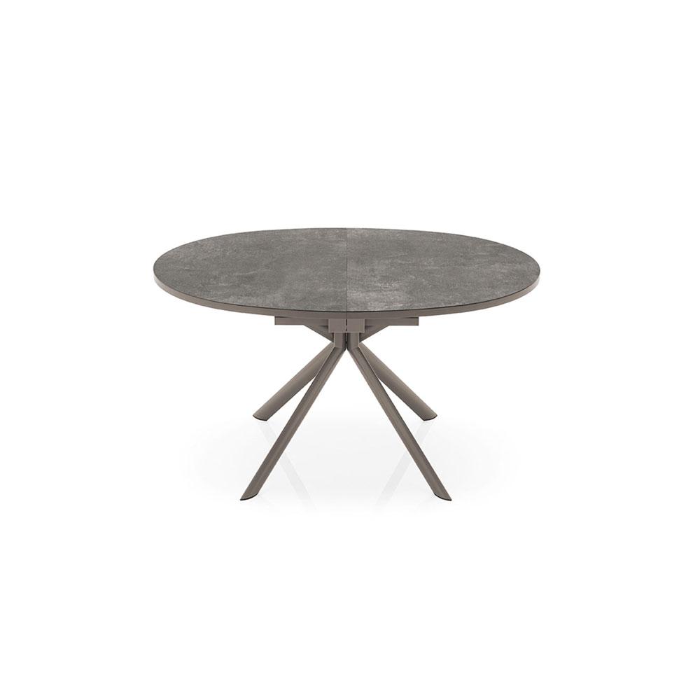 Tavolo Con Gamba Centrale Allungabile tavolo giove tondo allungabile ad ovale, disponibile in