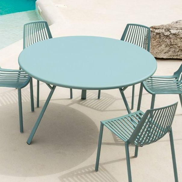 Tavolo Rotondo Per Esterno.Tavolo Radice Quadra Rotondo In Alluminio Vari Colori Per Il Giardino