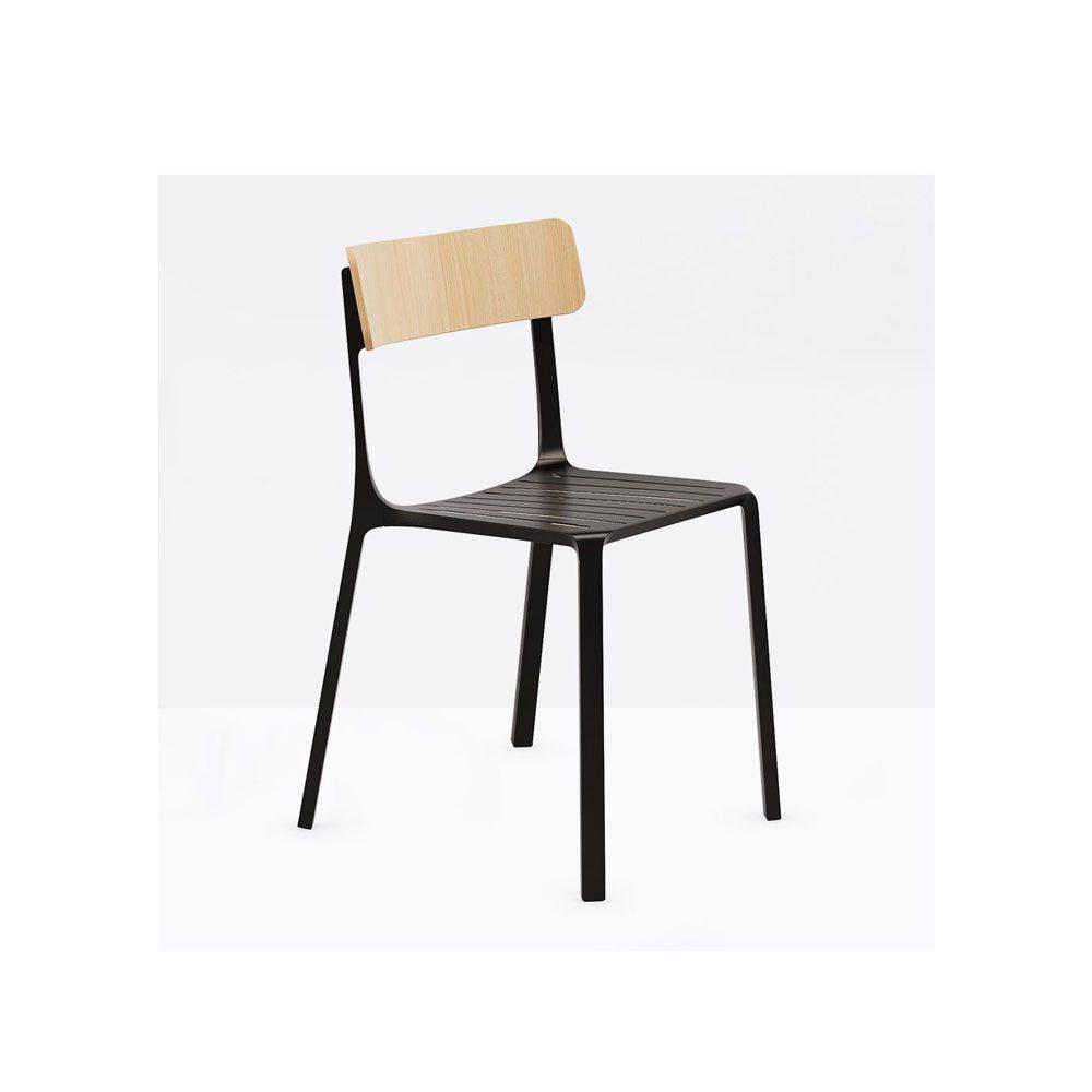 Sedie In Alluminio E Legno.Sedia Ruelle In Alluminio E Legno Disponibile In Tanti Colori E
