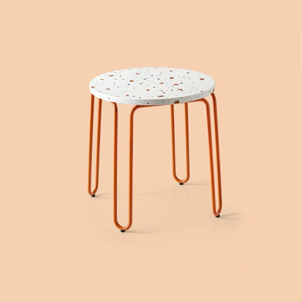 tavolino tondo basso