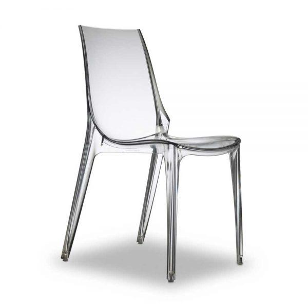 Sedia Vanity in policarbonato trasparente, impilabile e con lo ...