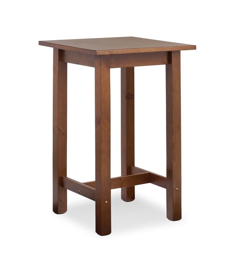 Tavolo legno alto tavolo bar disponibile in varie misure for Tavolo alto tipo bar