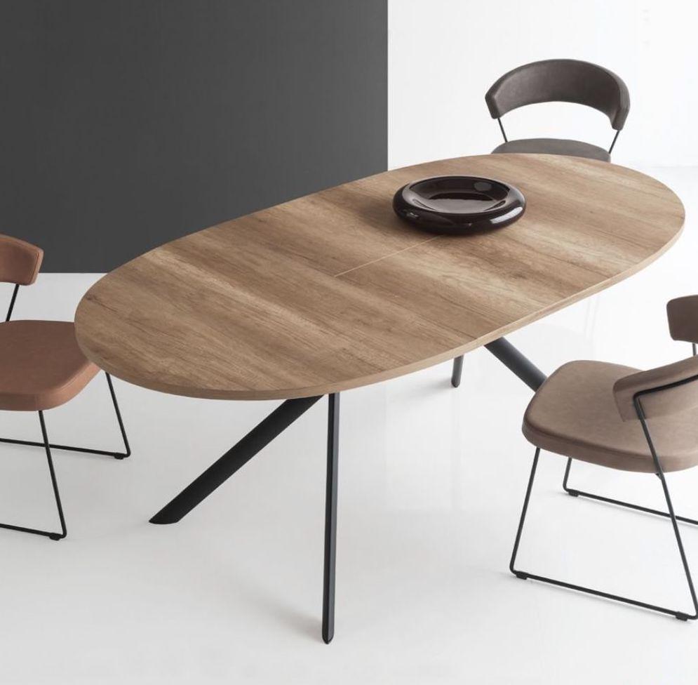 Tavolo Giove tondo allungabile ad ovale, disponibile in ...