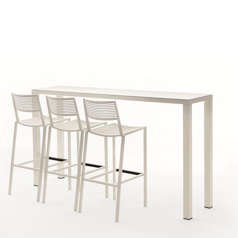 Tavoli Alti Da Esterno.Tavolo Easy Alto Da Giardino In Alluminio Vari Colori E