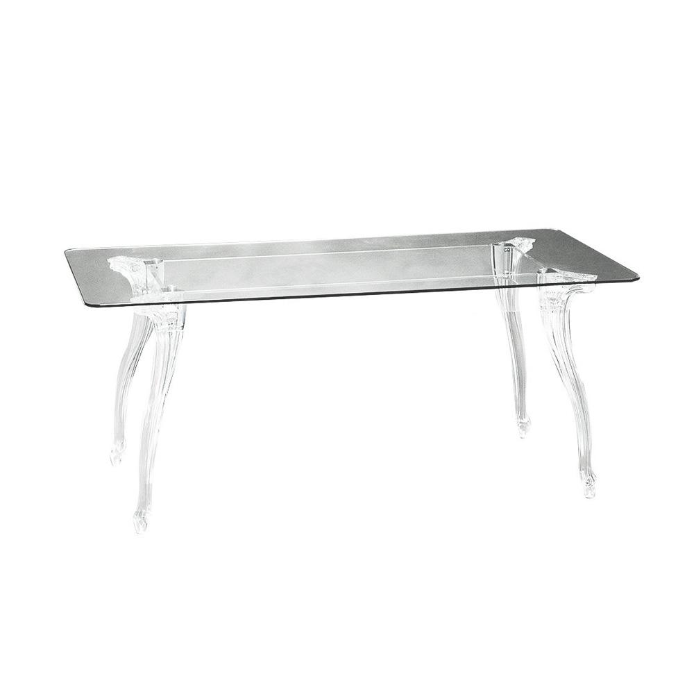 Gambe Per Tavolo Cristallo.Tavolo Bella Con Piano In Vetro Trasparente E Gambe In